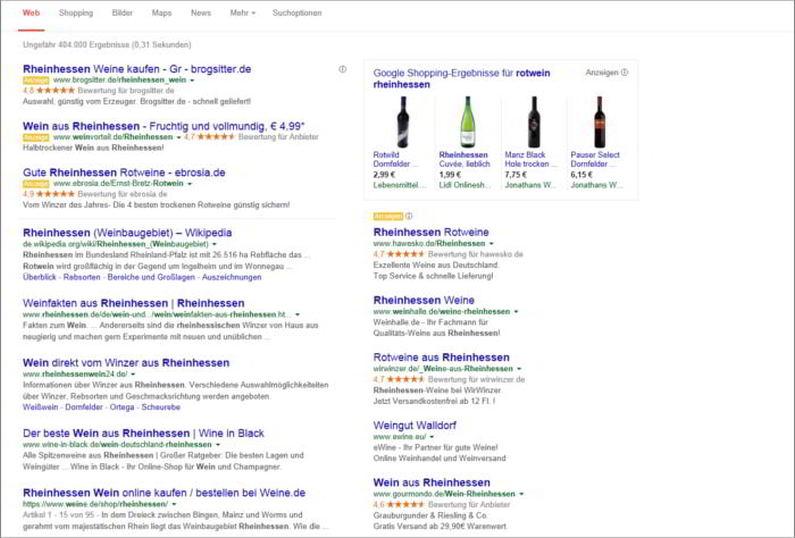 SEO und Google für Rheinhessen Wein